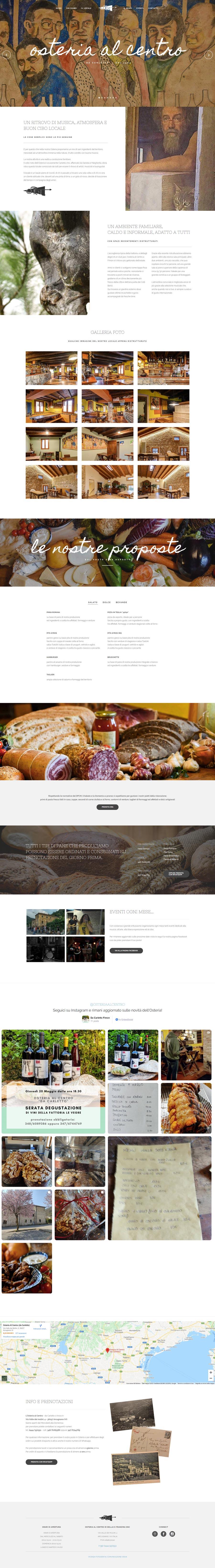 sito web da carletto osteria al centro