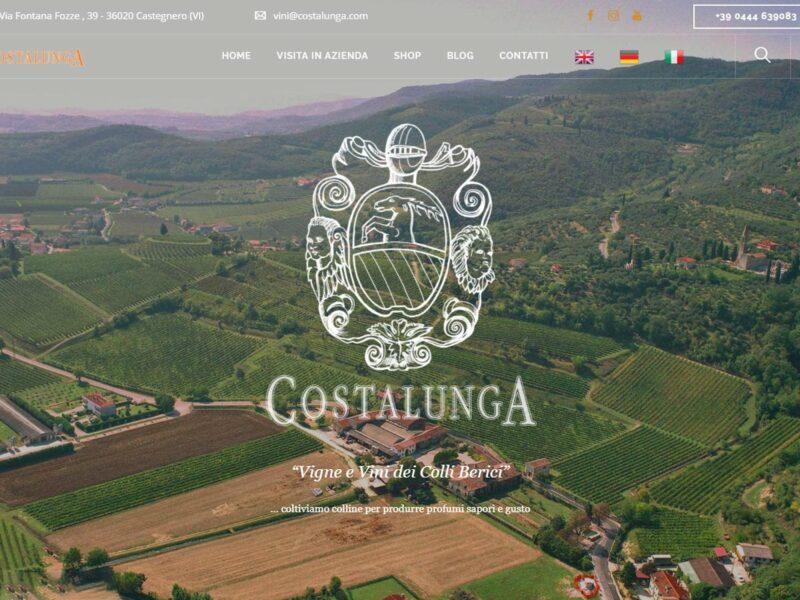 sito web costalunga vini, ecommerce vino