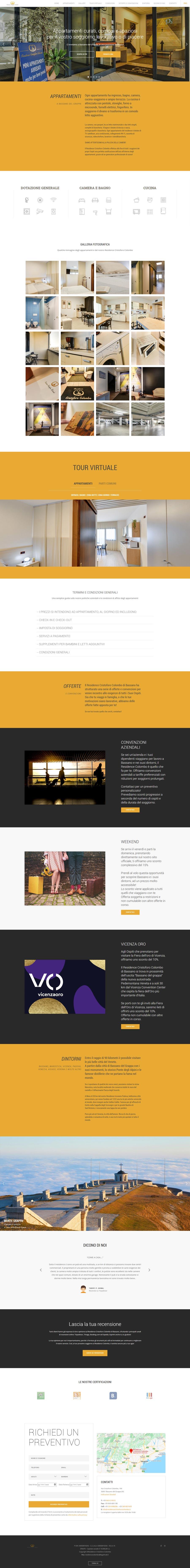 anteprima sito web residence cristoforo colombo bassano