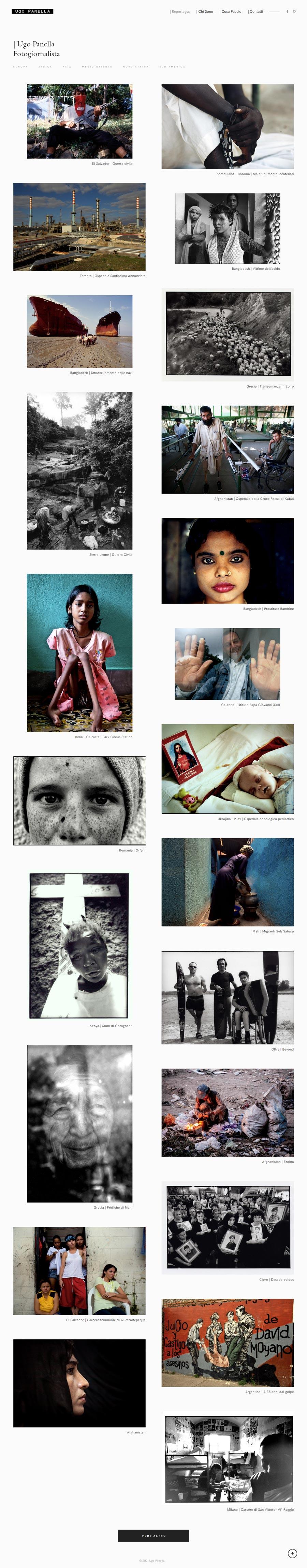 creazione sito web ugo panella fotoreporter