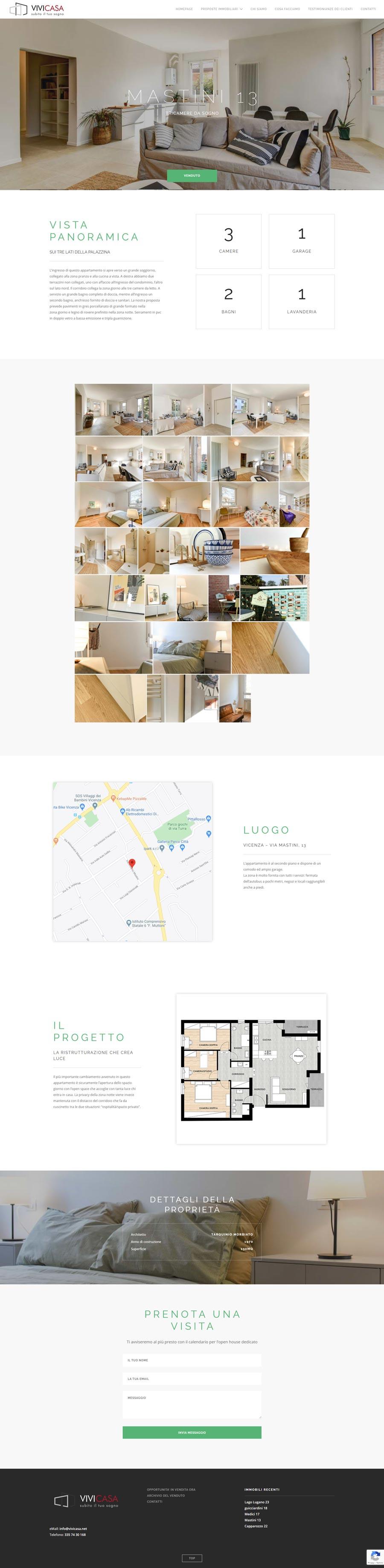 anteprima sito web vivicasa.net, creazione sito web immobiliare